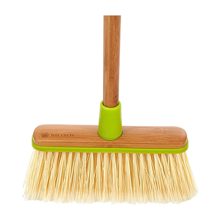 Full Circle Clean Sweep Angled Broom with Bamboo Handle, 1 Ea