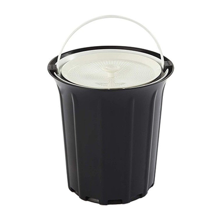 Full Circle Breeze Odor Free Countertop Compost Collector Black and White, 1 Ea