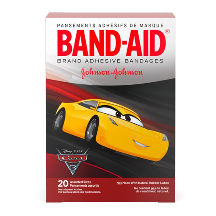 Band-Aid Children Bandages Disney Cars 3 Assorted Sizes, 20 Ea