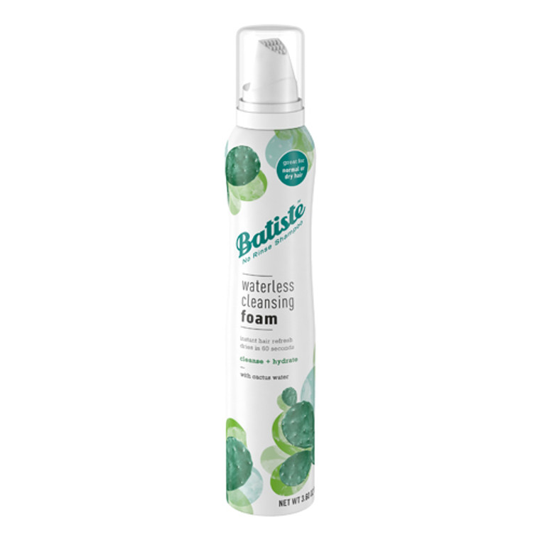Batiste Waterless Cleansing Foam Cleanse and Hydrate with Cactus Water, 3.6 Oz
