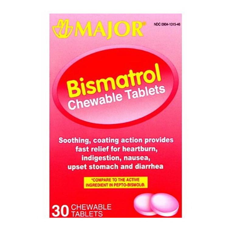 Major Bismatrol Chewable Tablets, 30 Ea