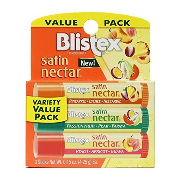 Blistex Satin Nectar Lip Moisturizer Variety Value Pack, 0.45 Oz/3 Ea