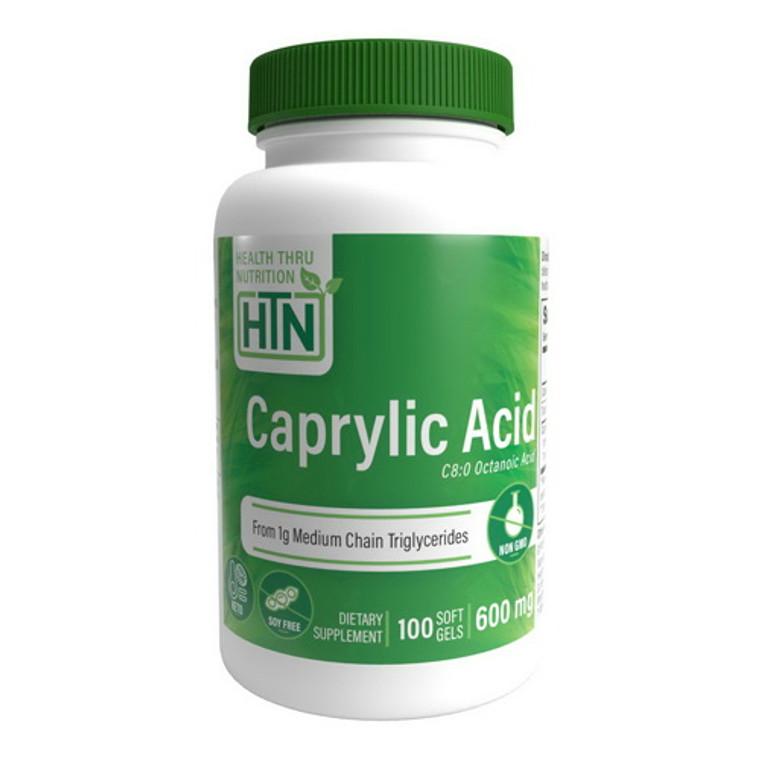 Health Thru Nutritio Caprylic Acid 600 Mg Softgels, 100 Ea