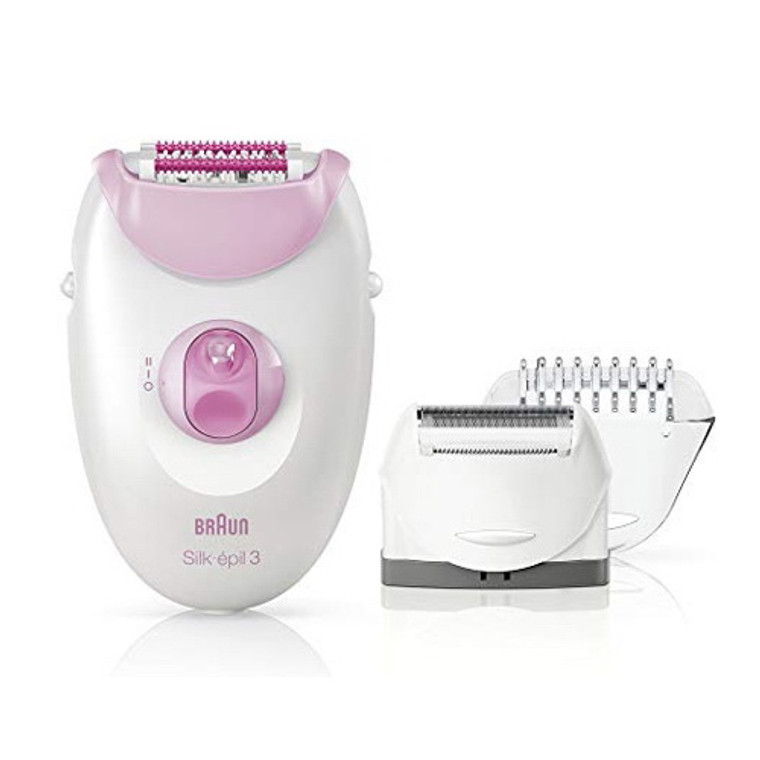 Braun 3-270 Epilator for Women for Long-Lasting Hair Removal, Pink, 1 Ea