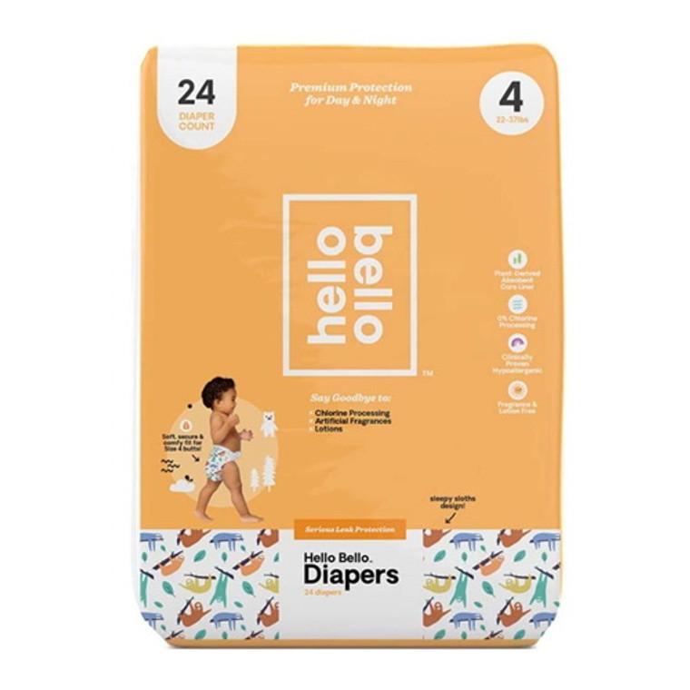 Hello Bello Diapers Jumbo Pack Size 4 Alphabet Soup, 24 Ea