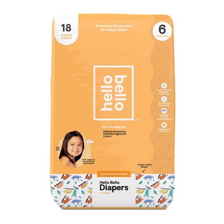 Hello Bello Diapers Jumbo Pack Size 6 Alphabet Soup, 18 Ea