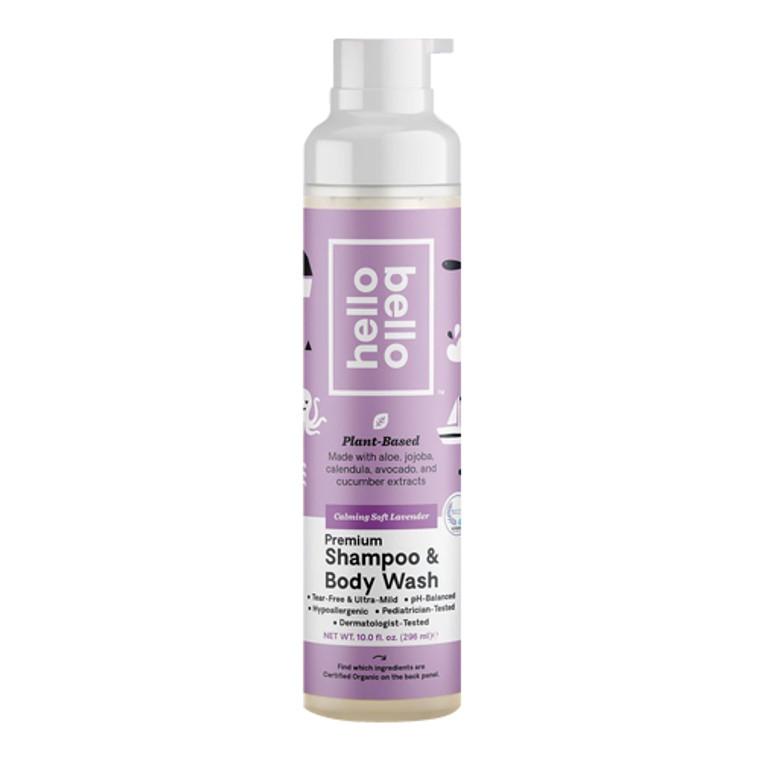 Hello Bello Baby Premium Shampoo and Wash, Lavender, 9.8 Oz