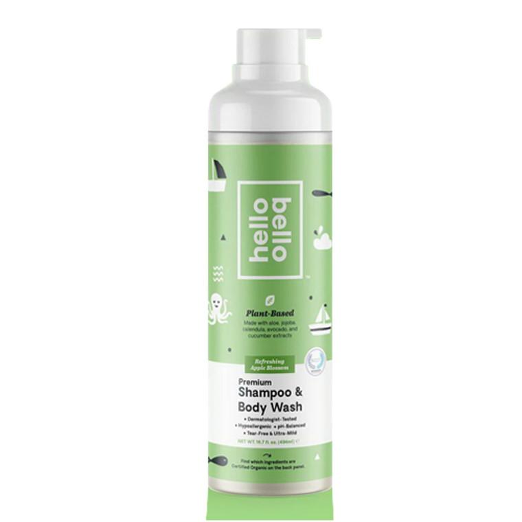 Hello Bello Baby Premium Shampoo and Wash, Apple Blossom, 16.7 Oz