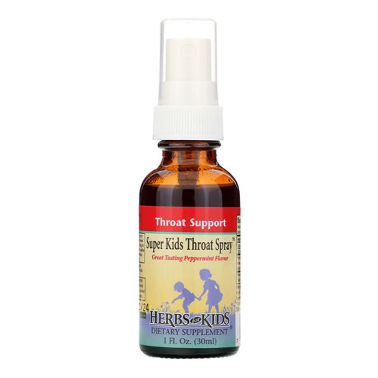 Herbs For Kids Super Kids Throat Spray, Peppermint, 1 Oz