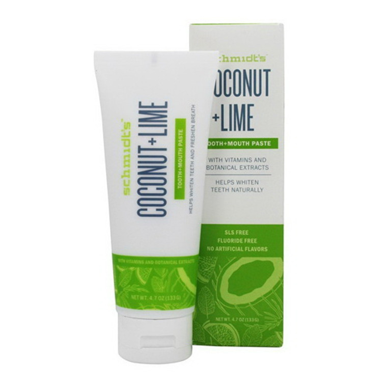 Schmidts Coconut and Lime Toothpaste, 4.7 Oz