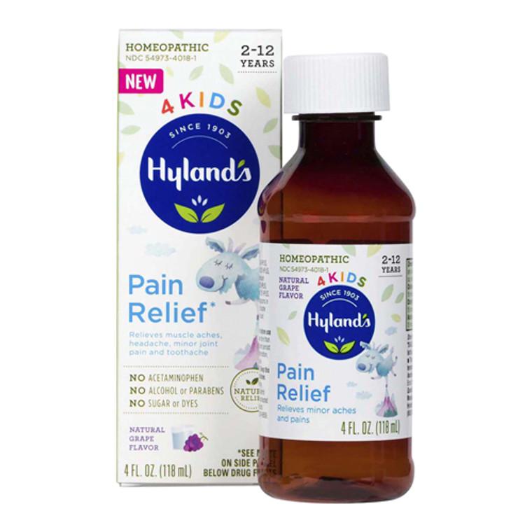 Hylands 4 Kids Pain Relief Syrup, Grape Flavor, 4 Oz