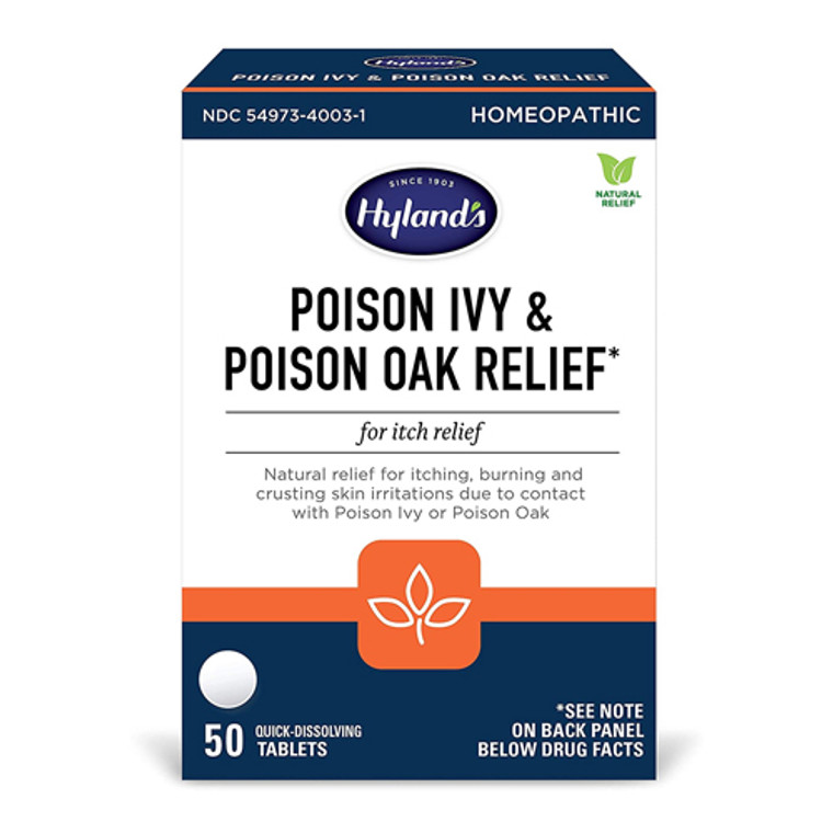 Hylands Poison Ivy and Poison Oak Relief Tablets, 50 Ea