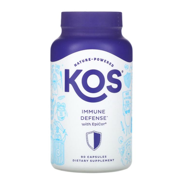 KOS Nature Powered Immune Defense with Epicor Capsules, 90 Ea