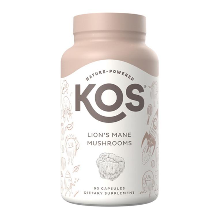 KOS Nature Powered Lion's Mane Mushrooms Capsules, 90 Ea