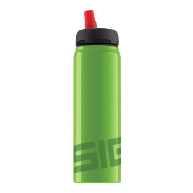 Sigg Water Bottle, Active Top, Green, 0.75 Liter, 1 Ea
