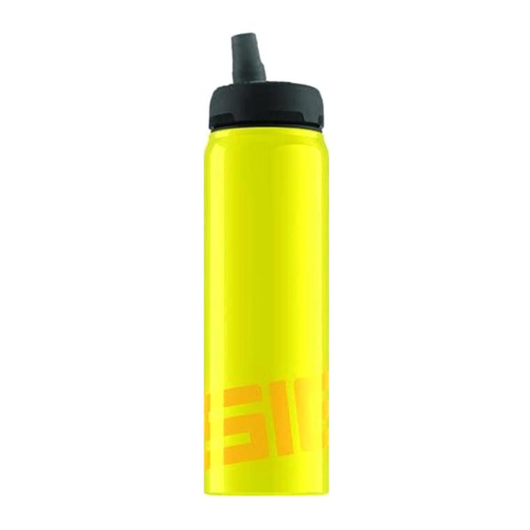 Sigg Water Bottle, Active Top, Yellow, 0.75 Liter, 1 Ea