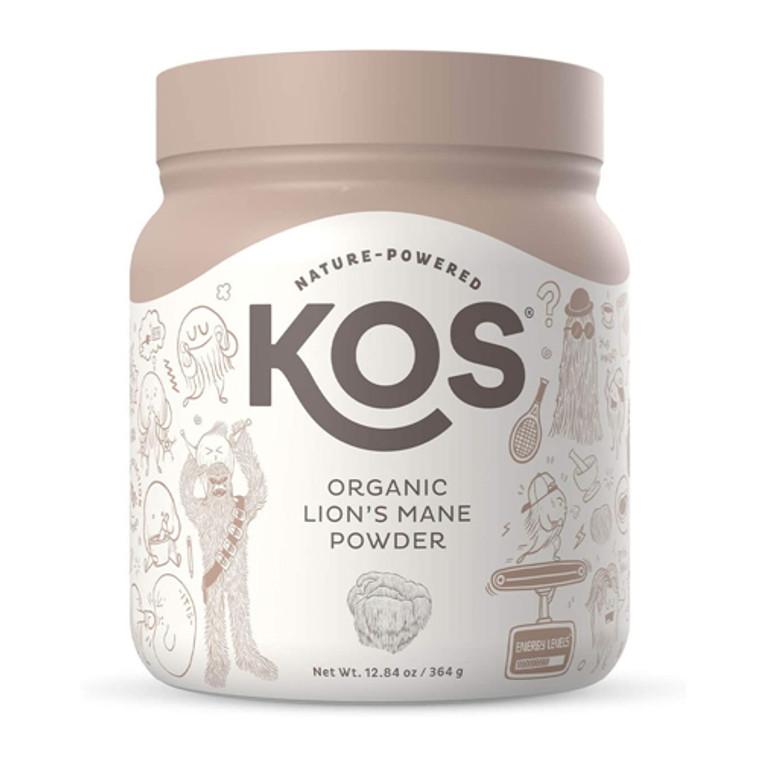KOS Nature Powered Organic Lion's Mane Powder, 12.84 Oz