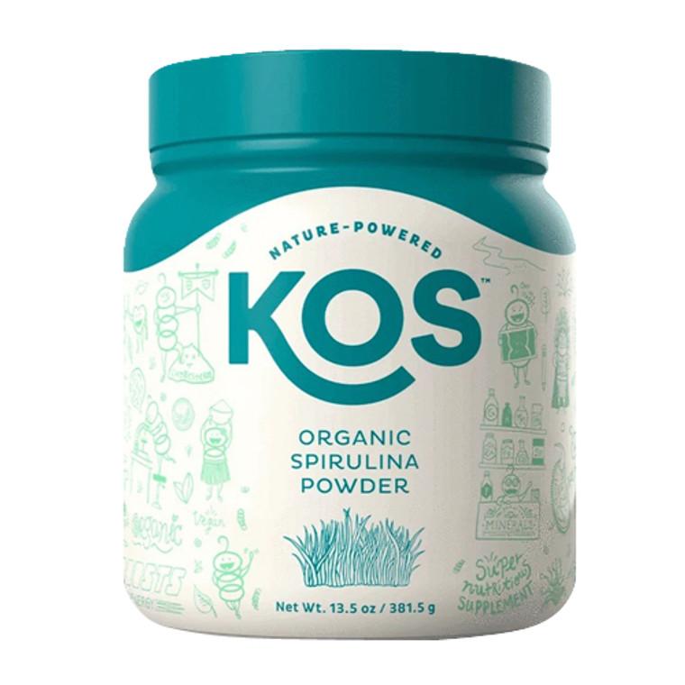 KOS Nature Powered Organic Spirulina Powder, 13.5 Oz