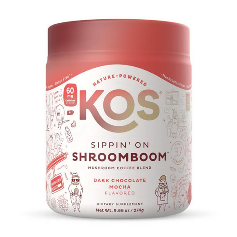 KOS Nature Powered Sippin On Shroomboom Mushroom Coffee, 9.59 Oz