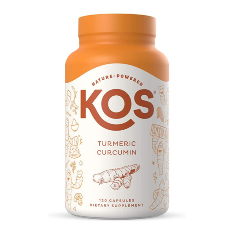 KOS Nature Powered Turmeric Curcumin Capsules, 120 Ea