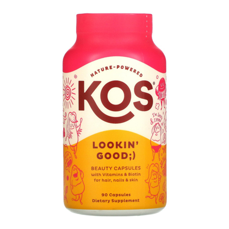 KOS Nature Powered Lookin Good Beauty Capsules, 90 Ea