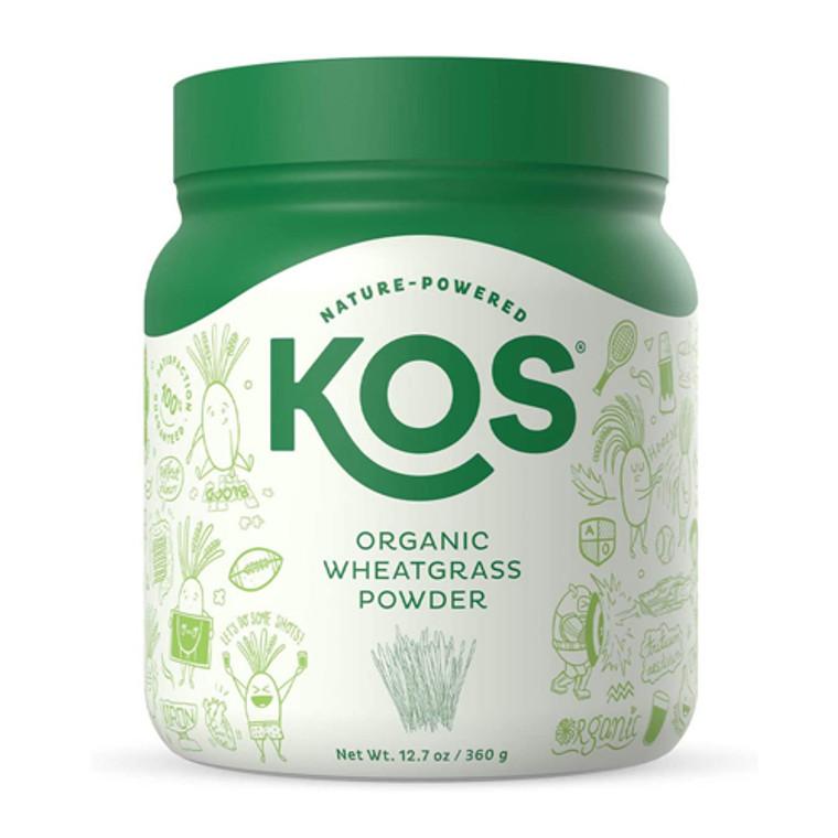 KOS Nature Powered Organic Wheatgrass Juice Powder, 12.7 Oz