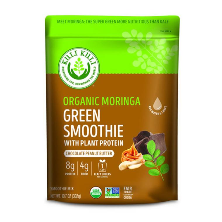 Kuli Kuli Organic Moringa Green Smoothie Mix Chocolate Peanut Butter, 10.7 Oz