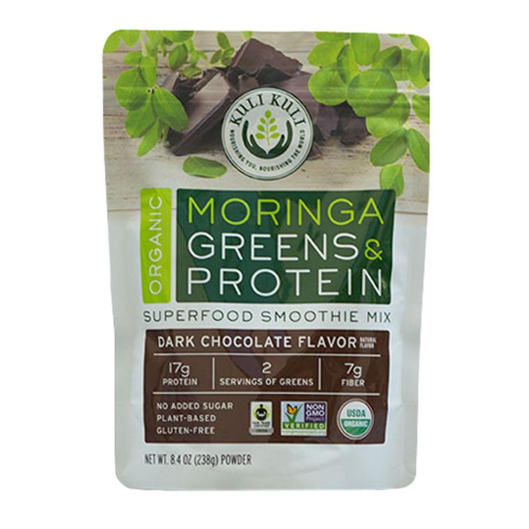 Kuli Kuli Organic Vegan Moringa Green Smoothie Mix Dark Chocolate, 8.4 Oz