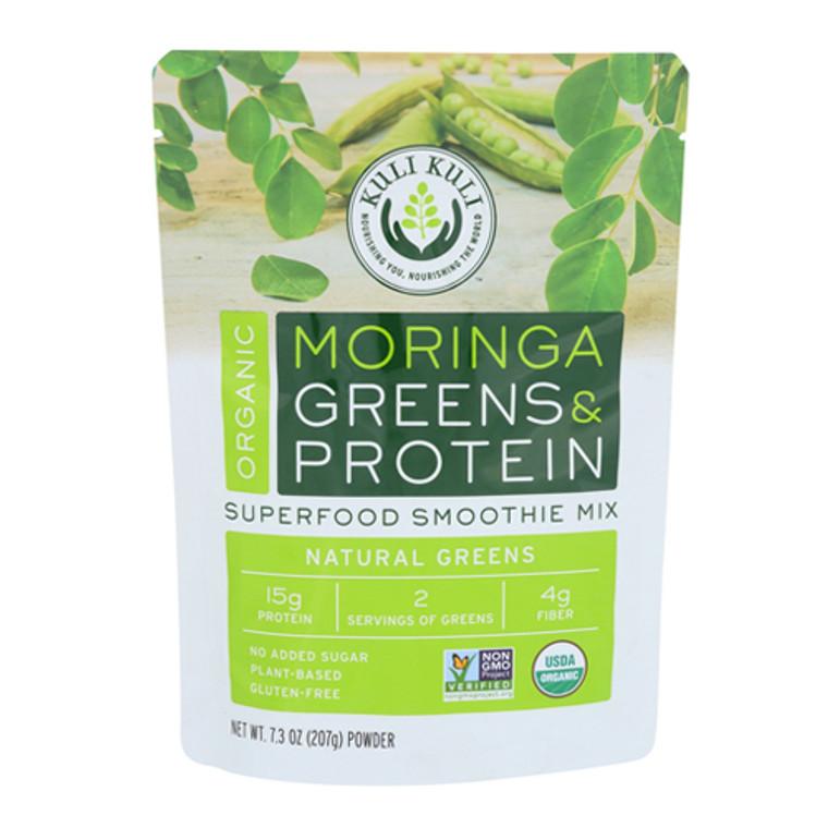 Kuli Kuli Organic Vegan Moringa Green Smoothie Mix Unsweetened, 7.3 Oz