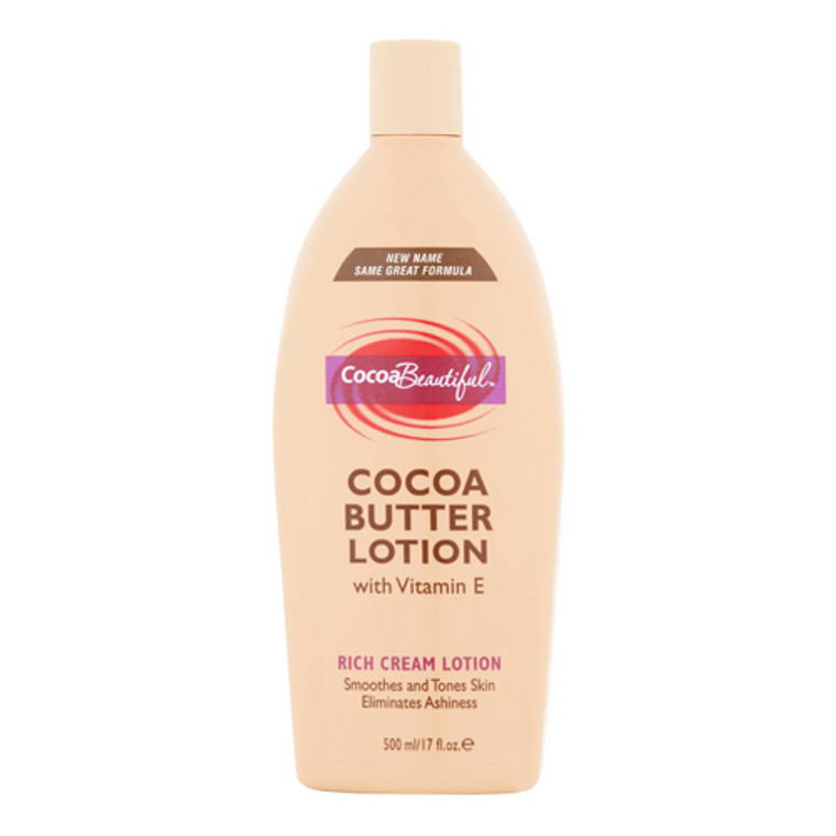 Cocoa Beautiful Cocoa Butter Rich Cream Lotion with Viatmin E, 17 Oz