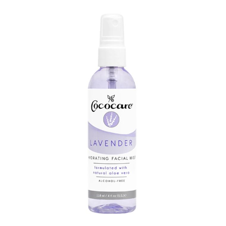 Cococare Hydrating Facial Mist, Lavender, 4 Oz