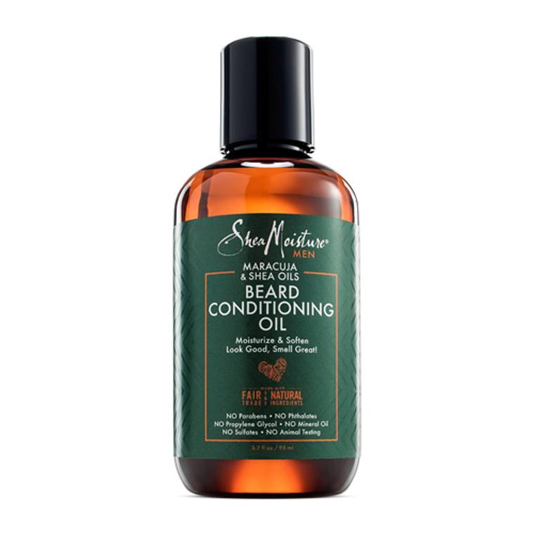 Shea Moisture Beard Conditioning Oil with Maracuja and Shea Oils, 3.2 Oz