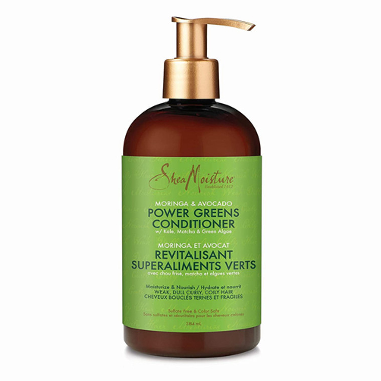 Shea Moisture Moringa and Avocado, Power Greens Conditioner, 13 Oz