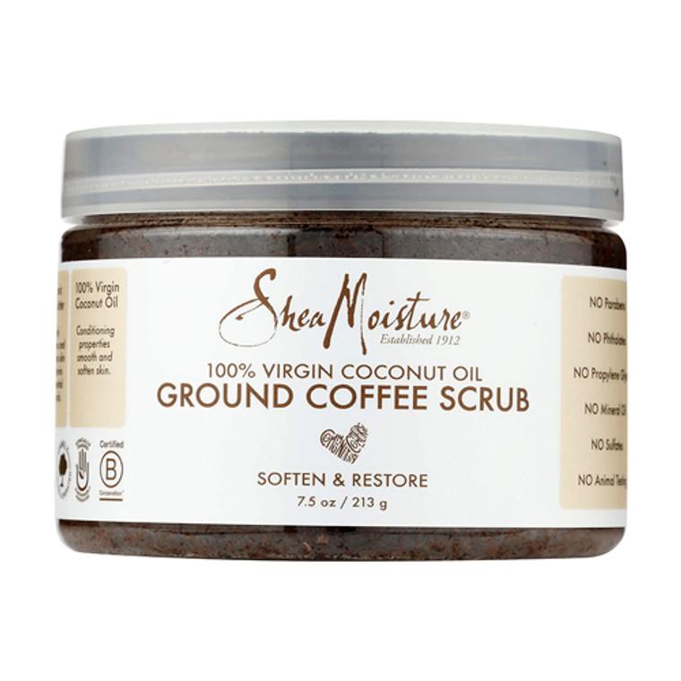 Shea Moisture 100% virgin coconut oil ground coffee scrub, 7.5 Oz
