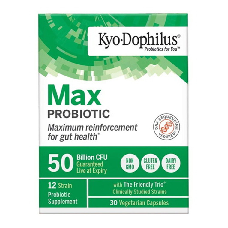 Kyo Dophilus Max Probiotic 50 Billion CFU Vegetarian Capsules, 30 Ea