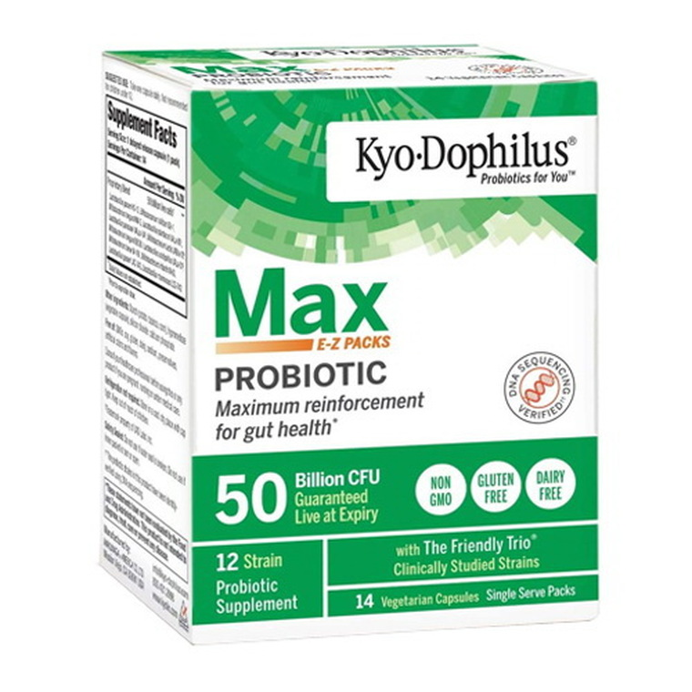 Kyo Dophilus Max Probiotic E to Z Pack  50 Billion CFU Vegetarian Capsules, 14 Ea