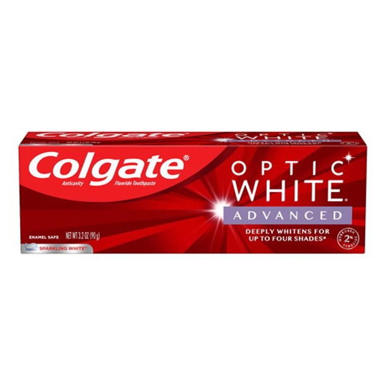 Colgate Optic White Advanced Teeth Whitening Toothpaste, Sparkling White, 3.2 Oz