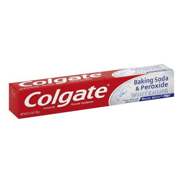 Colgate Baking Soda & Peroxide Whitening Toothpaste Brisk Mint, 2.5 OZ