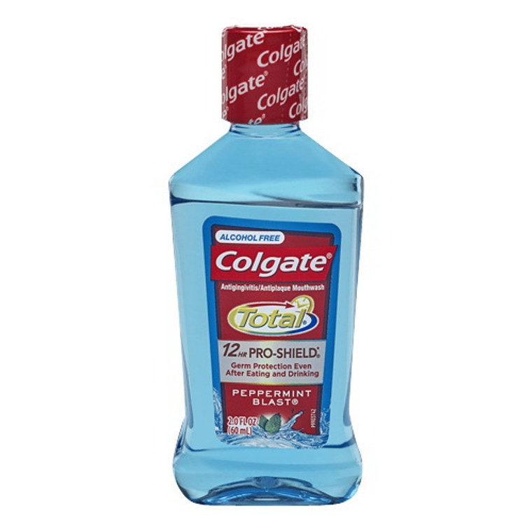 Colgate Total Advanced Pro-Shield Travel Size Mouthwash, Peppermint, 60 mL