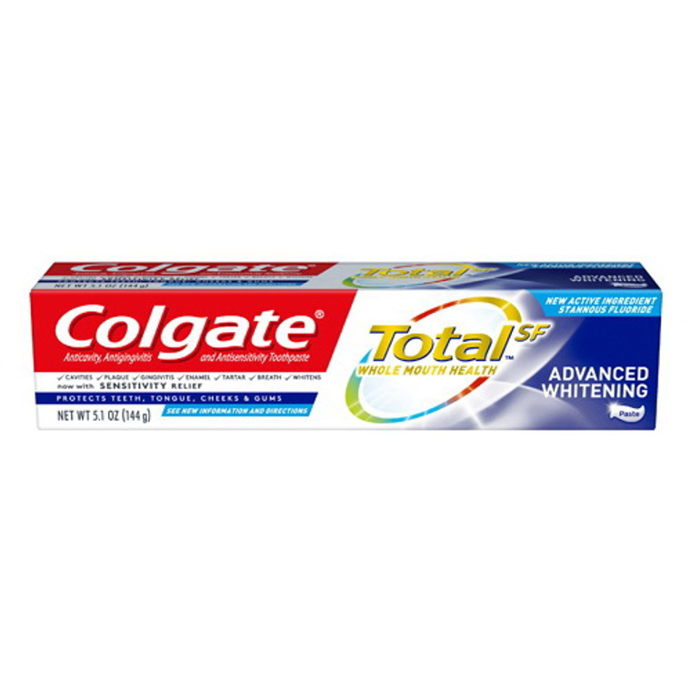 Colgate Total Advanced Whitening Paste Toothpaste, 5.1 Oz