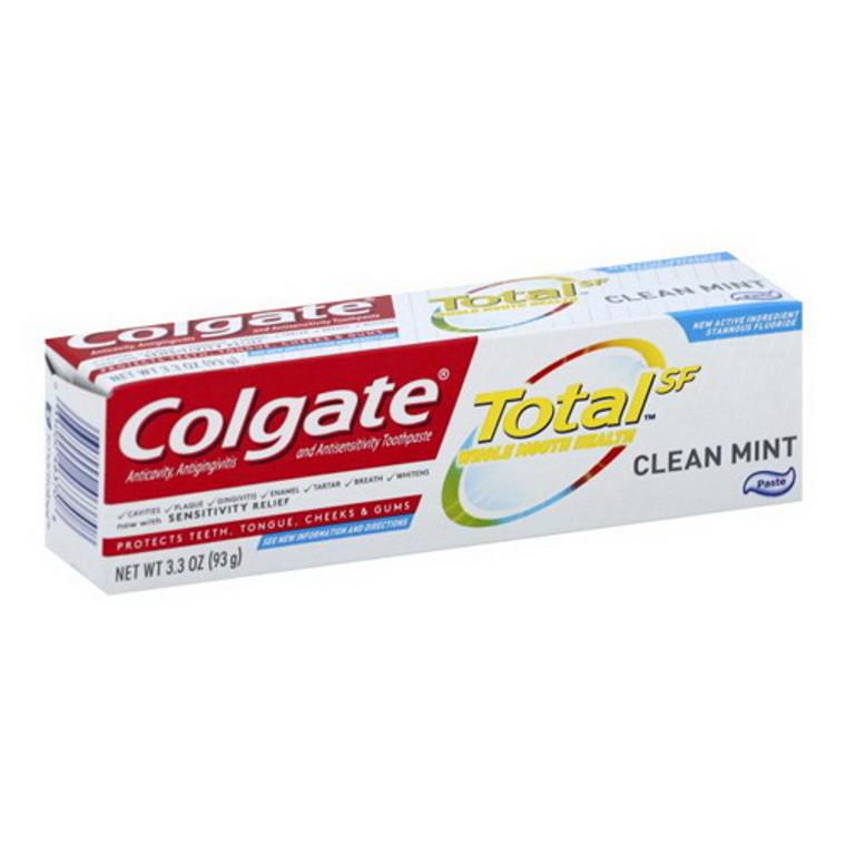 Colgate Total Anticavity Fluoride and Antigingivitis Toothpaste, Mint, 3.3 Oz