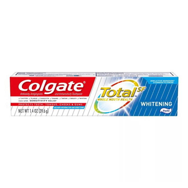 Colgate Total Travel Size Whitening Paste Toothpaste, 1.4 Oz