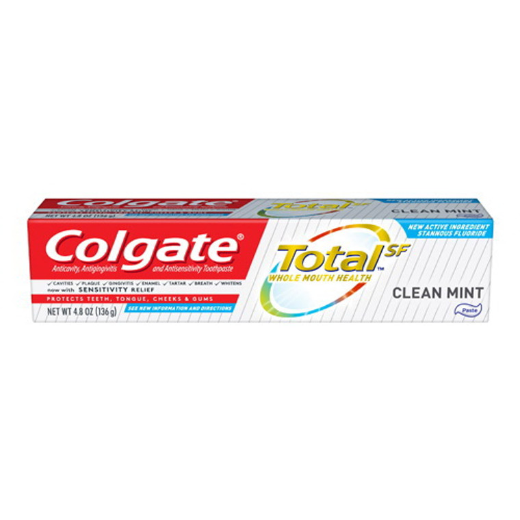 Colgate Total SF Whole Mouth Clean Mint Toothpaste, 4.8 Oz