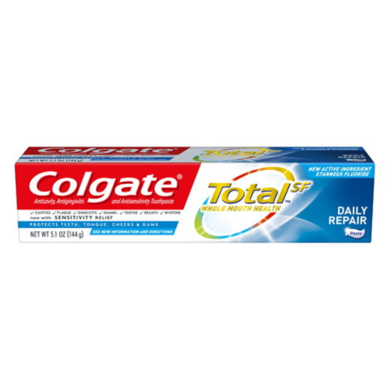 Colgate Total SF Whole Mouth Health Daily Repair ToothPaste, 5.1 Oz