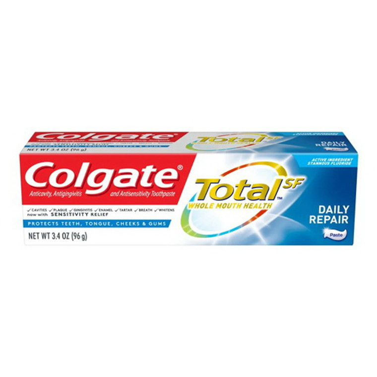 Colgate Total SF Daily Repair Toothpaste, 3.4 Oz
