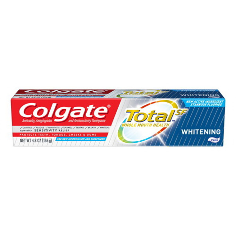 Colgate Total SF Whitening Paste Toothpast, Sensitivity Relief, 4.8 Oz