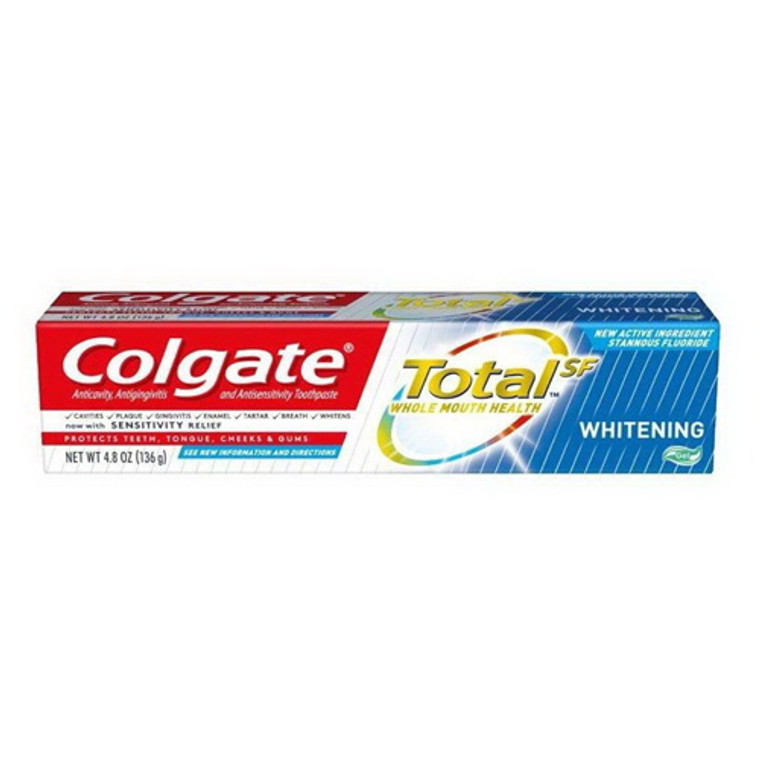 Colgate Total Whitening Gel Toothpaste, 4.8 Oz