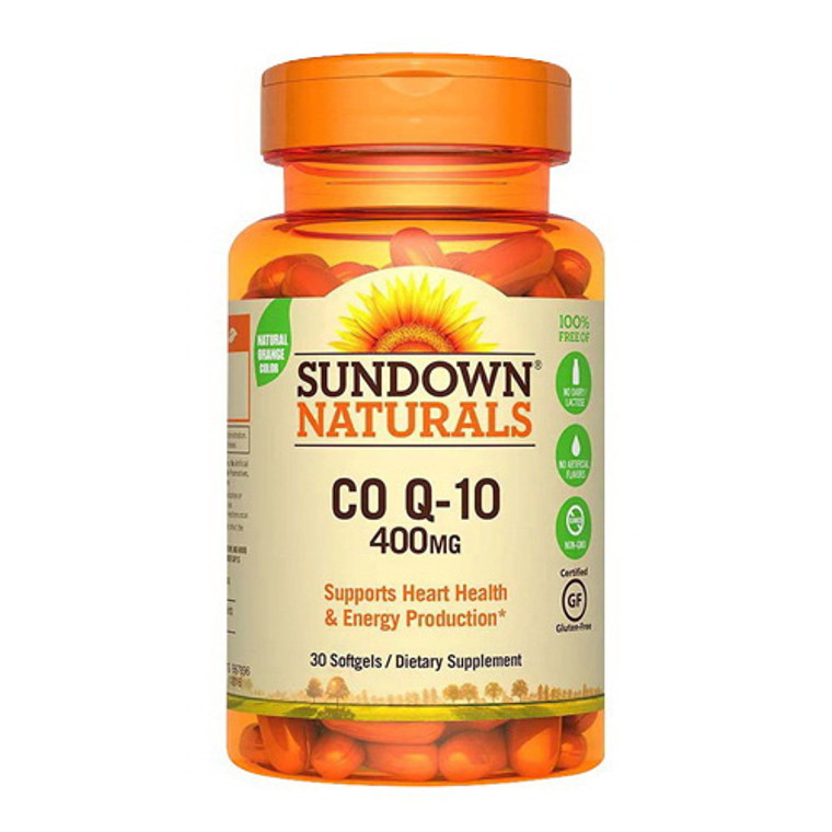 Sundown Naturals Q-Sorb CoQ10 400mg Softgels, 24 Ea