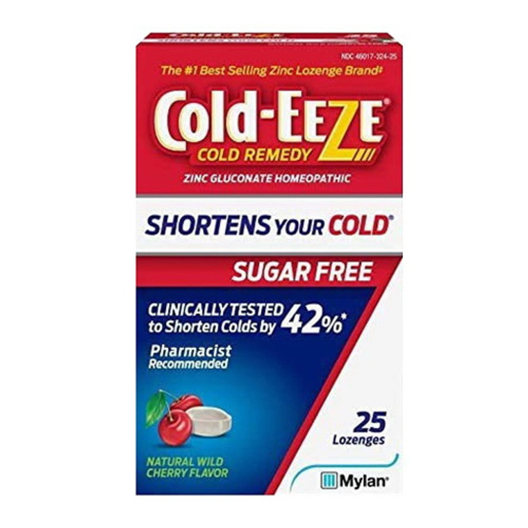 Cold-Eeze Sugar Free Wild Cherry Cold Remedy Lozenges, 25 Ea