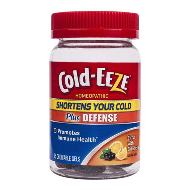 Cold-Eeze Plus Defense Citrus with Elderberry Chewable Gels, 25ct